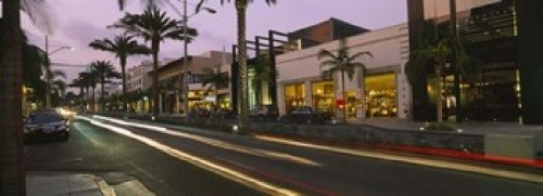 Stores on the roadside Rodeo Drive Beverly Hills California USA Poster Print (36 x - Drive Stores Beverly On