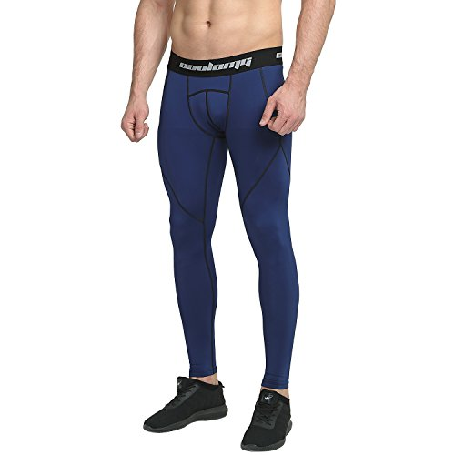 COOLOMG Men's Compression Pants Running Tights