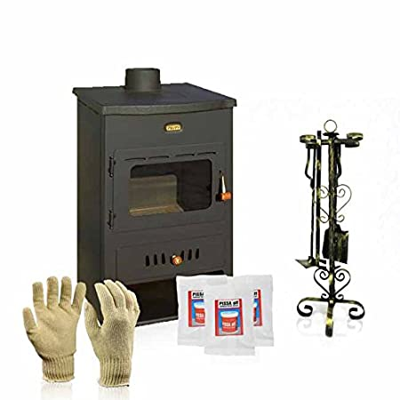 Wood burning boiler stove Prity, Model K1 W8, Heat output 12kW + Gift Accessories: Amazon.co.uk: DIY & Tools