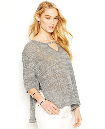 Rachel Rachel Roy Womens Keyhole Side Slits Pullover Top Gray S (Rachel Roy Clothing compare prices)