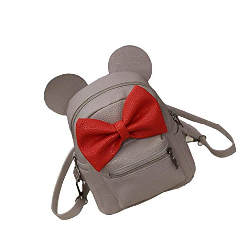 Student Girls Shoulder Lolittas Strap Ear Pet Mini Lightweight Slim Sling for Crossbody Women Cute Gray Bag Small School Gray Fashion Backpack AUwp0BAq