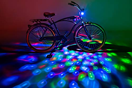 Brightz CruzinBrightz Blinking Tri-Colored LED Bicycle Accessory Light, Red/Green/Blue -