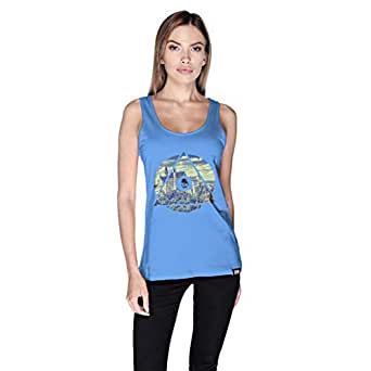 Creo Germany Tank Top For Women - L, Blue