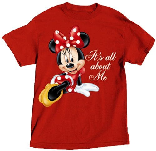 Disney Ladies T Shirt All About Me Minnie - Red - X-Large