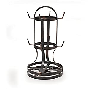 Gourmet Basics by Mikasa Rotating Mug Tree, Antique Black