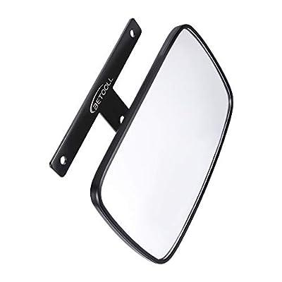 BETOOLL Golf Cart Wide Panoramic Rear View Mirror for Ez Go, Club Car, Yamaha