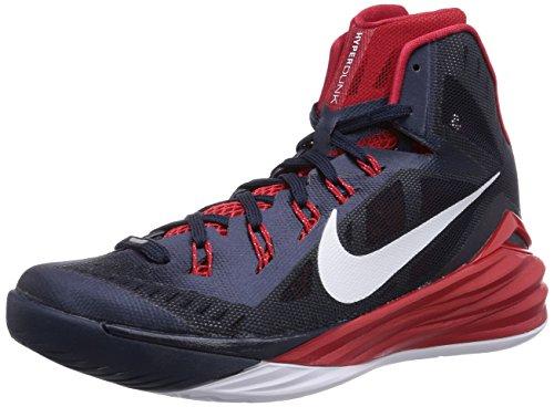NIKE Men's Hyperdunk 2014 Basketball Shoe Obsidian/University Red/White Size 11.5 M US ()