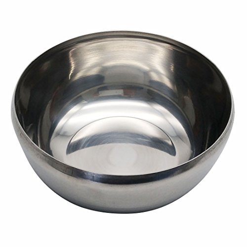 Korean Traditional Style Stainless Steel Rice Bowl with Lid Set of 5 by GARASANI (Image #6)