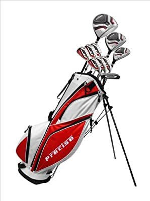 """Men's Right Hand +1"""" inch Tall Complete Golf Club Set, Custom Made for Golfers 6'0"""" - 6'6"""" Height"""