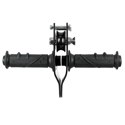 Fusion Climb Z Max Military Tactical Edition Stainless Steel Zip Line Speed Trolley Pulley with Grip Bars Black 45kN