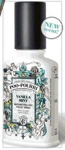 Poo-Pourri Before-You-Go Toilet Spray Bottle, 4 oz, Vanilla Mint