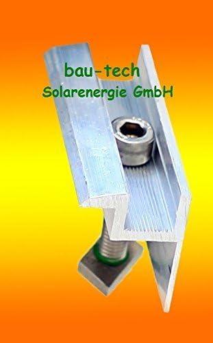 4 Modul Endklemmen 50mm von bau-tech Solarenergie