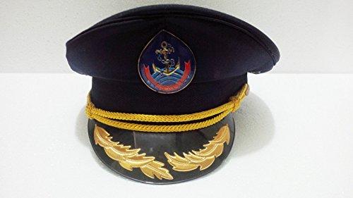 Atlantic Maritime-Maritime Marine Ship Captain Hat Navy Cap Blue Gold Black Captains Ship from Atlantic