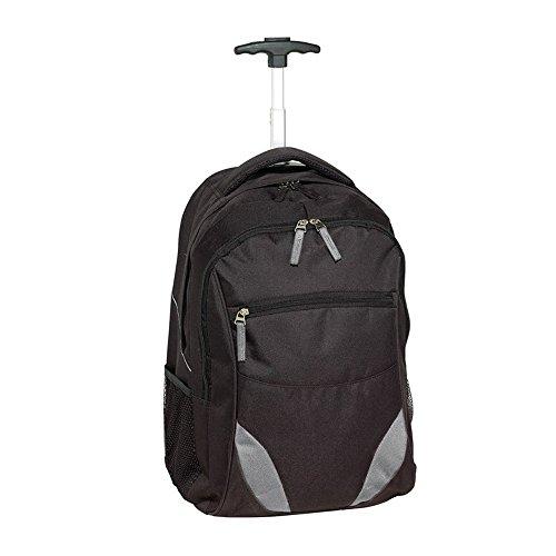 Rucksack Trolley schwarz gepolstertem Laptopfach 34x52x28cm