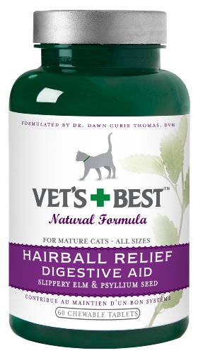 Vet's Best Hairball Relief Digestive Aid, 60 Chewable Tablets, My Pet Supplies