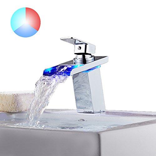 bathroom faucet led waterfall - 1