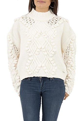 pull hiver guess jeans w74r77 vanda blanc