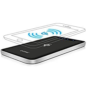 Wireless Phone Charger Power Bank by ZENS – Qi Charging – 4500 mAh – Travel Friendly Powerbank – for Samsung Galaxy S6 S7, Note 5, Nexus 4 5 6, Xperia, Lumia, Other Qi Enabled Smartphones