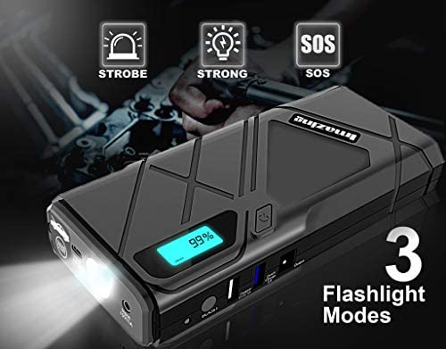 Imazing Portable Car Jump Starter - 1500A Peak 12000mAH (Up to 8L Gas or 6L  Diesel Engine) 12V Auto Battery Booster Portable Power Pack with Smart