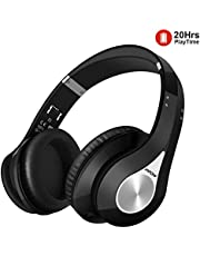 Mpow Bluetooth Headphones Over-Ear Wireless/Wired [Up to 20 Hrs] Foldable HD Sound Noise Cancelling Mic Comfortable Easy In-Line Control Fast Stable Connect Durable Lifetime TV/PC/IOS/Android/Tablet