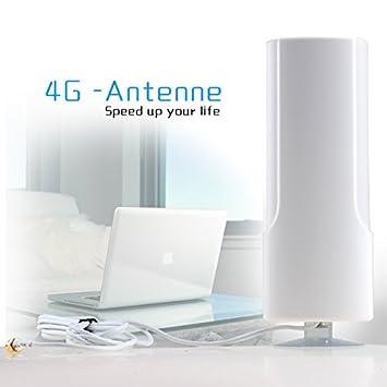 AGPTEK® Antena 25dBi LTE 4G Booster amplificador de la señal 2M Cable externo con TS