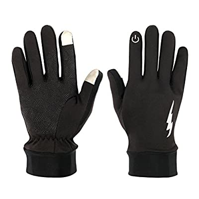 Fenvella Touch Screen Gloves - Anti-ski & Warm Gloves for Spring,Autumn and Winter Waterproof and Windproof,Perfect for Man and Women Running Skiing Cycling Texting Black