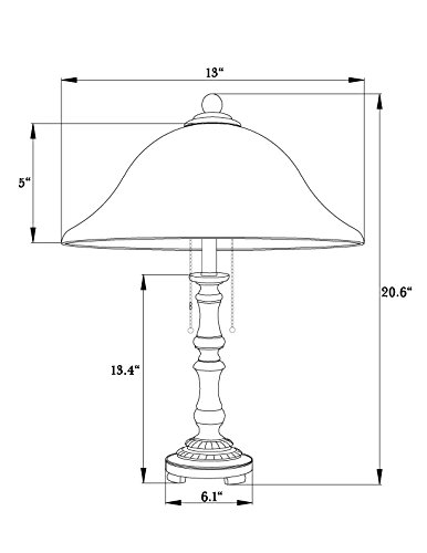 Home Source Industries Table Lamp with Alabaster Glass Shade