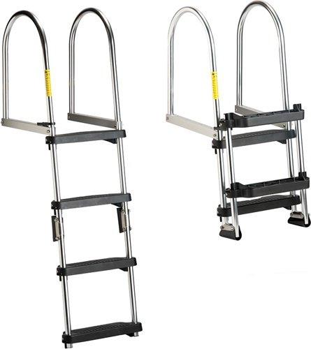 Garelick/Eez-In 12380:01 Eez-In Premium Folding Pontoon Transom Boarding Ladder