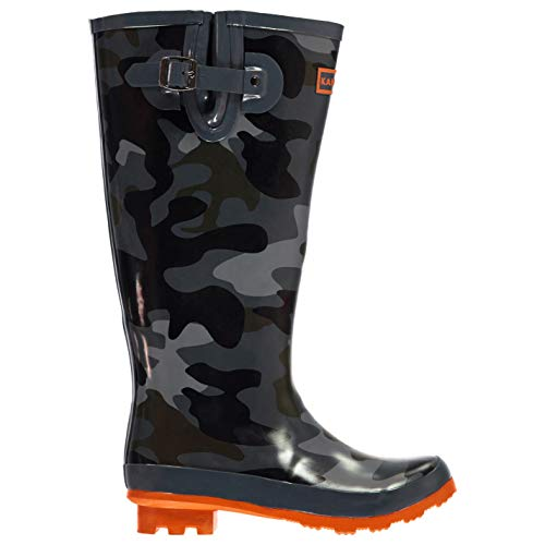 - Kangol Kids Printed Wellies Slip On Wellington Boots Rain Camo 4.5 US