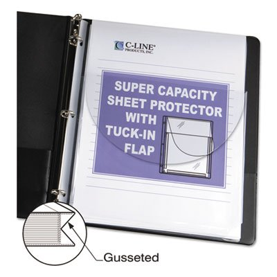 Super Capacity Sheet Protector with Tuck-In Flap, Letter Size, 10/Pack, Sold as 10 Each (Protector Super Capacity Sheet)