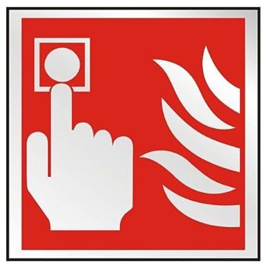 Prestige alarma contra incendios señal 100 mm x 100 mm (Ba ...