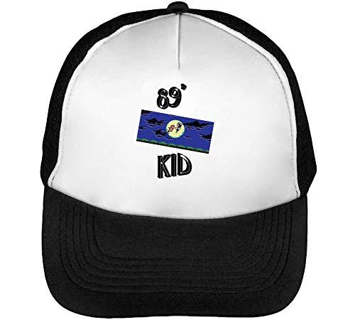 Hombre Beisbol Gorras Retro Blanco 89'S Negro Dope Kid Snapback AInqR