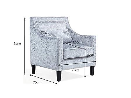 Funda con tachuelas, de terciopelo sillón de oficina living ...