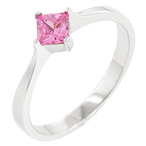 Solid Classic Petite Pink Ice Solitaire Ring (Pink Ice Ring Style)