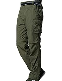 Men's Outdoor Water-Resistant Quick Dry Convertible Hiking Fishing Casual Pant #M885