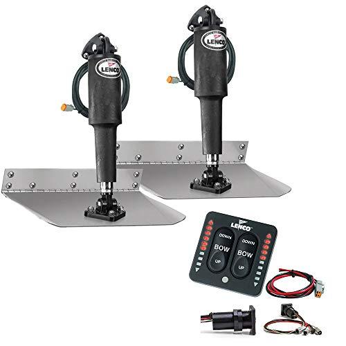 Lenco 9 x 9 Standard Trim Tab Kit w/LED Indicator Switch Kit 12V