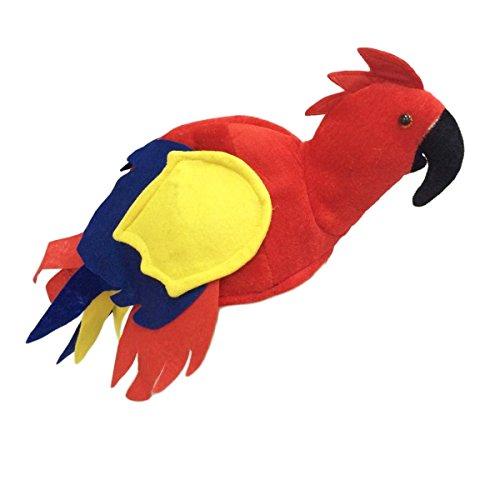 LUOEM Parrot Hat Headpiece Jimmy Buffet Hat Novelty Bird Hat Halloween Costume Tropical Themed Party Favors Supplies -