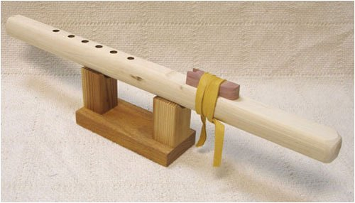 Windpony Key of A Unfinished Poplar 6-Hole Flute