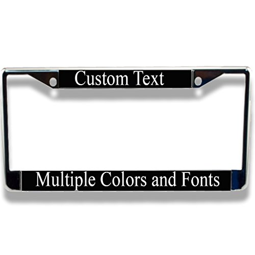 VictoryStore Personalized CHROME License Plate Frame (Black)