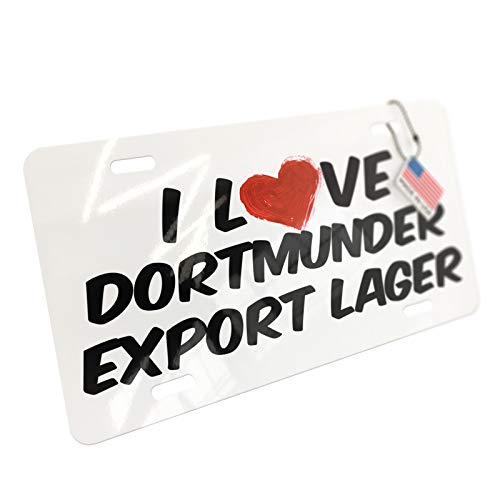 NEONBLOND I Love Dortmunder Export Lager Beer Aluminum License ()