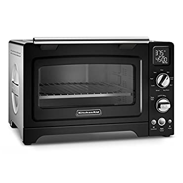 KitchenAid KCO275OB Convection 1800W Digital Countertop Oven, 12, Onyx Black