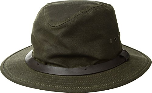 (Filson Unisex Tin Packer Hat Otter Green MD)