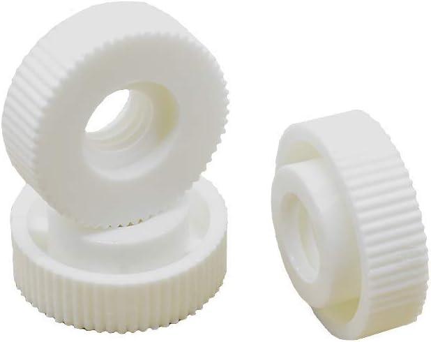 di/ámetro 15 mm color blanco tuerca de distancia con rosca interior y puente 10 tuercas moleteadas M4 altura 6 mm PA 6.6 de pl/ástico