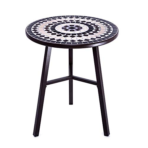 (Mosaic Pub Table Bring Artistic Color to Your Outdoor Decor with This Beautiful Camrose Farmhouse Natural Mosaic Tiles Bistro Bring Artistic Color to Your Outdoor Decor with This Beautiful Table)