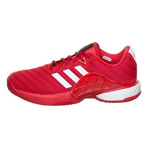 50 Rojo Barricade 2 Batida adidas Zapatilla Hombres Claro Tenis Tierra Rojo Zapatillas De Clay Boost 3 vRO6R4q