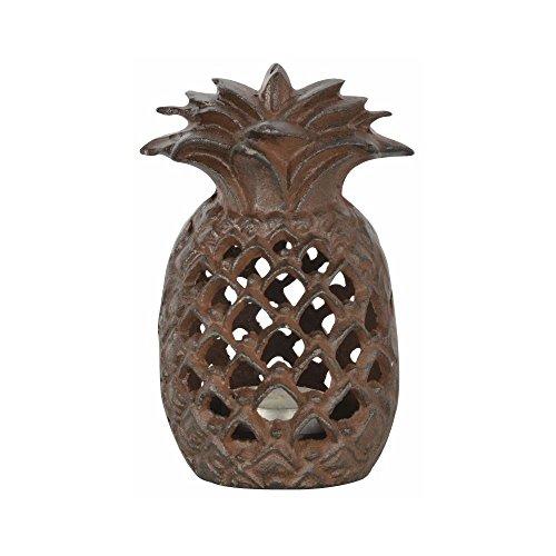 Fallen Fruits Cast Iron Pineapple Outdoor Tea Light Candl...