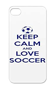 Soccer Keep Calm And Love Sports Soccer Shock-absorbent Protective Case For Iphone 5/5s Navy Keep Calm And Love