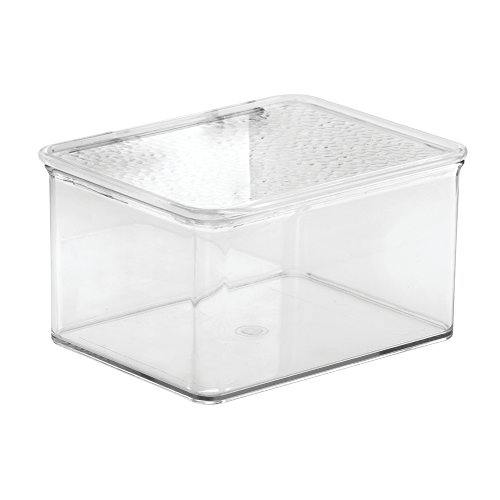 InterDesign Rain Stackable Cosmetic Organizer Box To Hold Makeup, Beauty Products - Small, Clear (Acrylic Boxes compare prices)