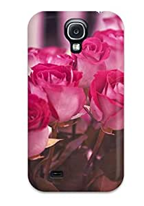 For Galaxy S4 Protector Case Flower Phone Cover