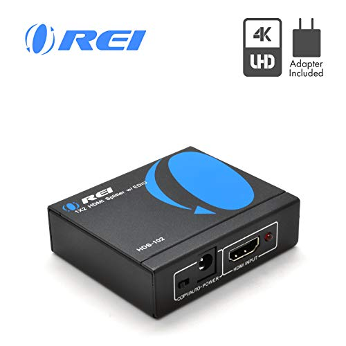 OREI HDS-102 1x2 Powered 1080P V1 4 Certified HDMI Splitter with Full Ultra  HD 4K/2K and 3D Resolutions - 1 Source onto 2 Displays